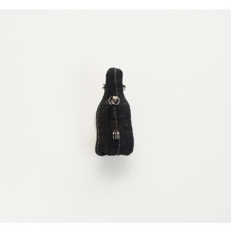 Miniature Black Scotch Brooch