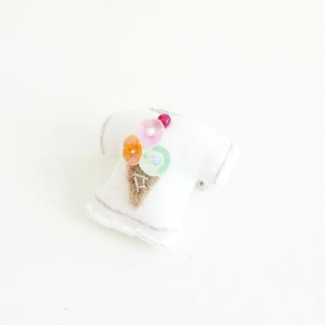 Miniature T-shirt Brooch(ice cream)