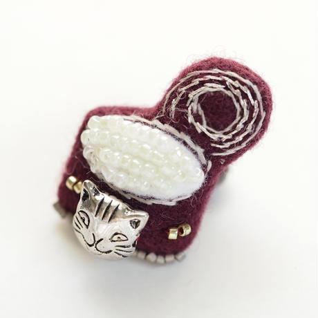 Miniature Cat Food Brooch