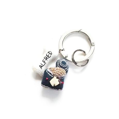 Dog Food Key Ring-テキストの刺繍サービス-
