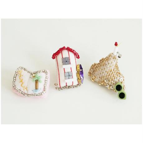 Miniature Beach House Brooch