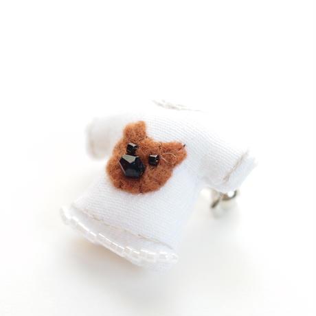 Miniature T-shirt Brooch(bear)