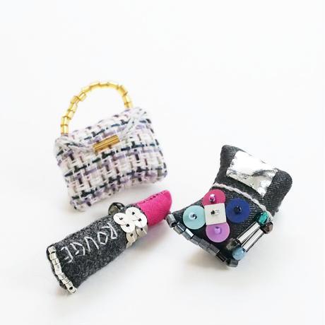 Miniature Cosmetics Brooch