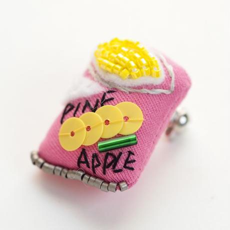 Miniature Pineapple Brooch