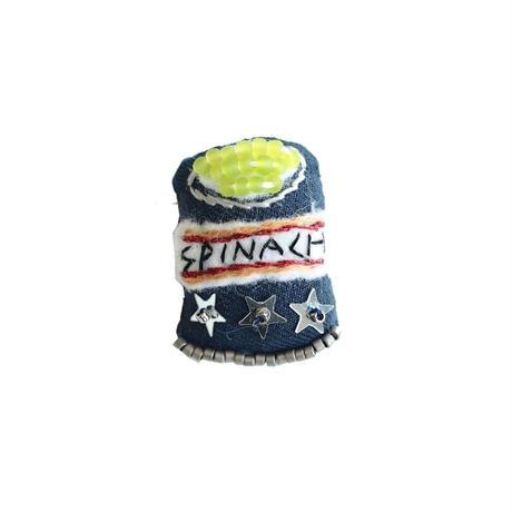 Miniature Spinach Brooch