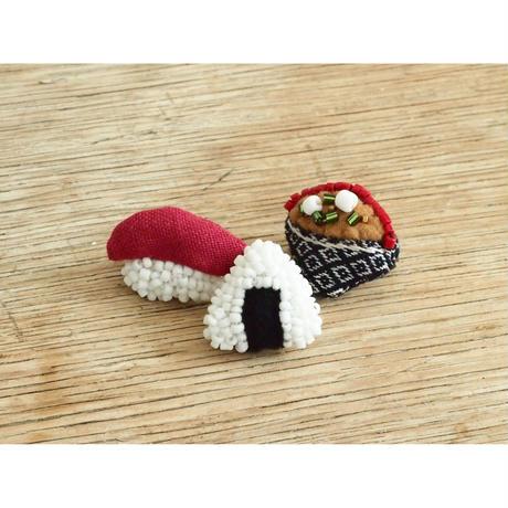 Miniature Sushi Brooch