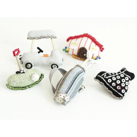 Miniature Tour Bag Brooch