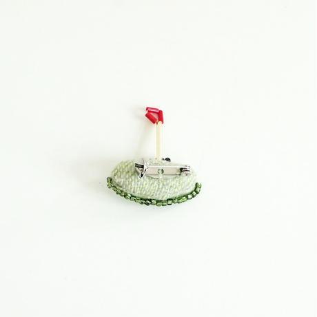 Miniature Putting Green Brooch