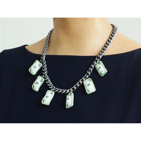 Paper Money Charm Necklace