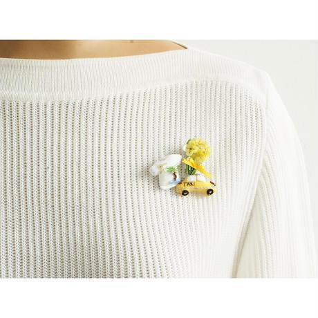 Miniature Bouquet Brooch (yellow)