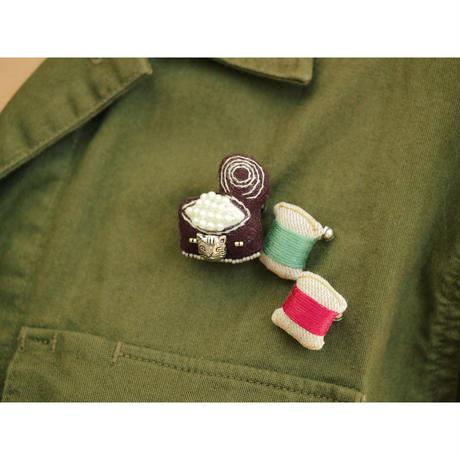 Miniature Thread Brooch