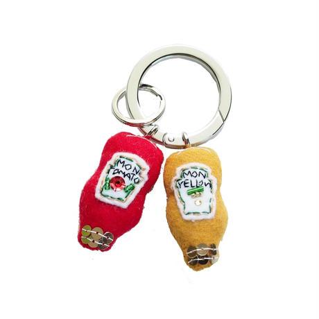 Ketchup & Mustard Key Ring