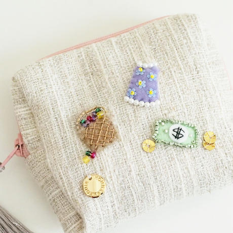 Miniature Pouch(gray tweed)