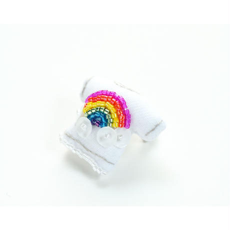 Miniature T-shirt Brooch(rainbow)