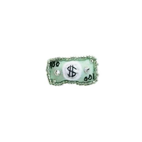 Miniature Paper Money Brooch