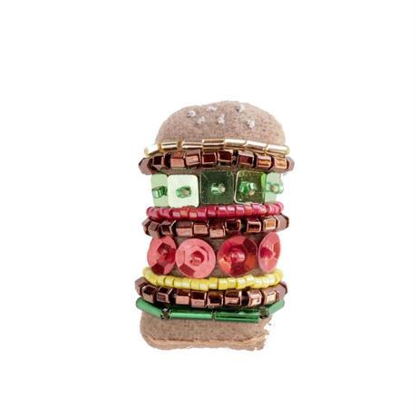 Miniature Big Hamburger Brooch
