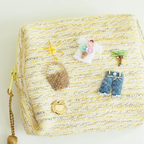 Miniature Pouch(yellow tweed)
