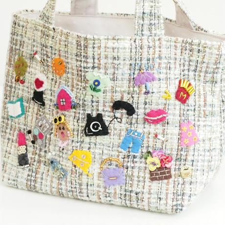Tote Bag(green tweed②)