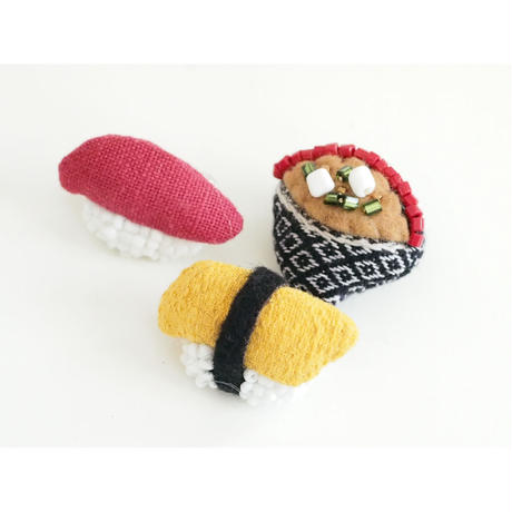 Miniature Sushi Brooch(玉子)