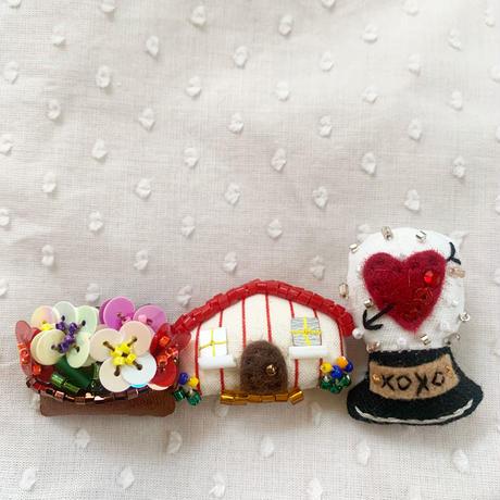 Miniature House Brooch