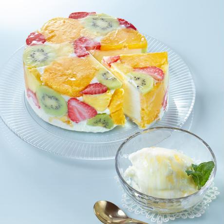 【福島市 くだもの畑・honeybee】ジェラートケーキとカップジェラートのセット