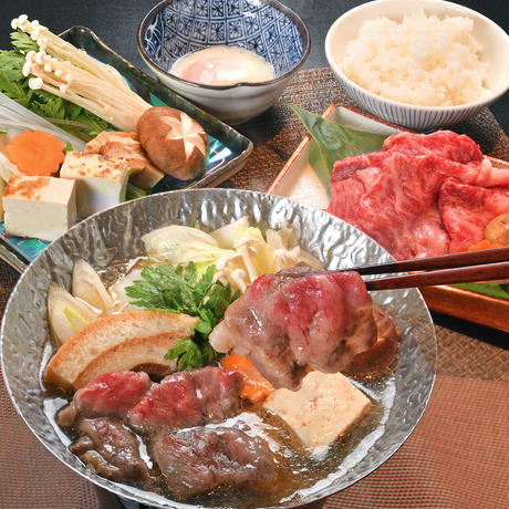 【会津若松市 瀧の湯】瀧の湯名物 だしすき焼きセット