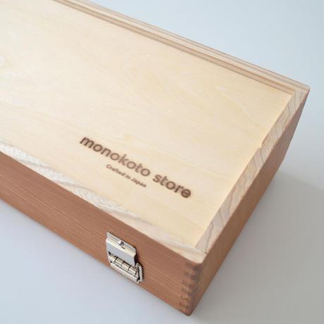 はんことマスキングテープのための道具箱