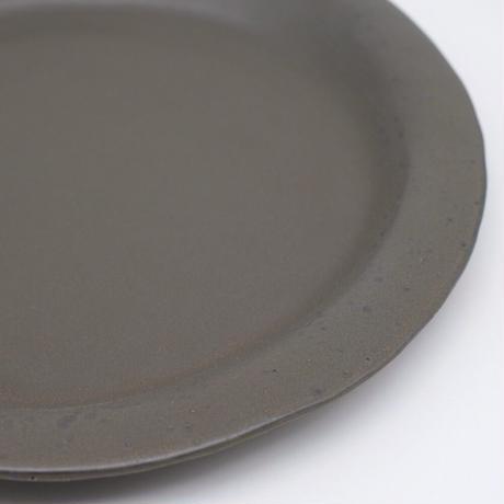 teto ceramic / リムプレート・大・錆鉄釉薬 (実物写真819)