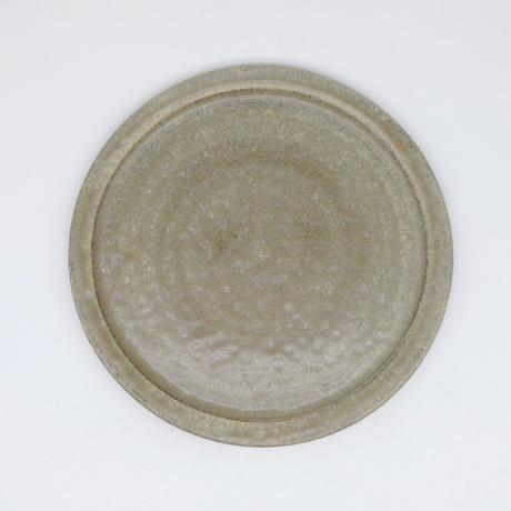 吉永 哲子 / 7寸リム皿・さびあさぎ(実物写真713)