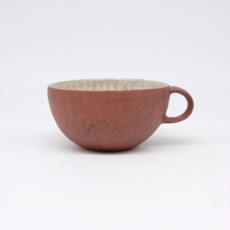 井内 素 / スープカップ・赤 (実物写真1054)