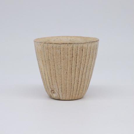 鈴木 進 / 粉引線紋カップ (実物写真328)