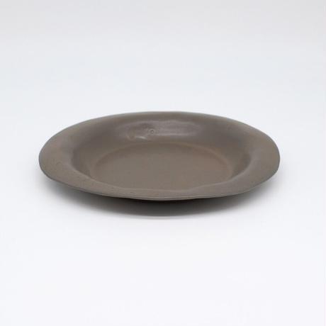 teto ceramic / リムプレート・中・錆鉄釉薬 (実物写真413)