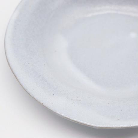 teto ceramic / リムプレート・小・白透明釉薬 (実物写真810)