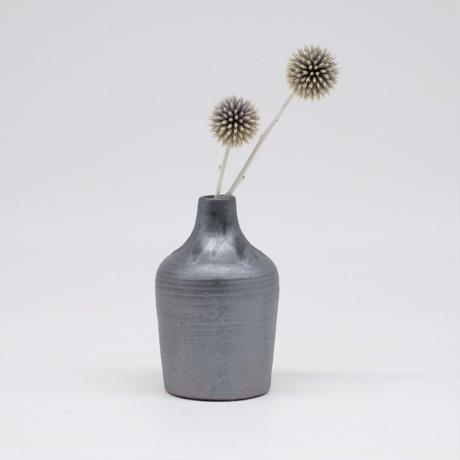 比地岡 陽子 / 銀彩釉花瓶・小 (実物写真577)