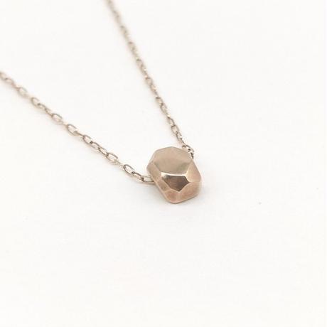 【受注制作】y.h.a accessories / K10 ネックレス(hammered-mass)