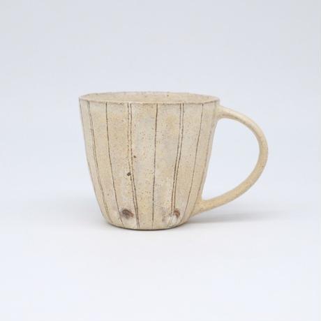 鈴木 進 / 粉引線紋マグカップ(実物写真469)