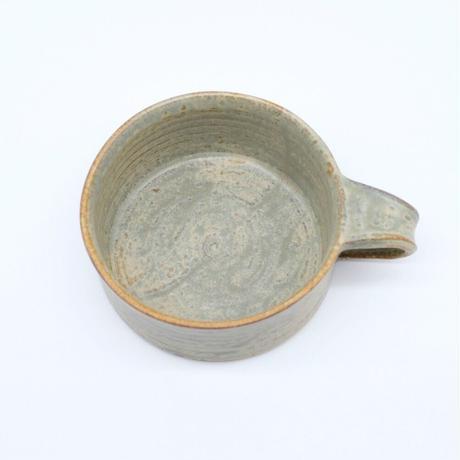吉永 哲子 / 平マグカップ・さびあさぎ釉(実物写真696)