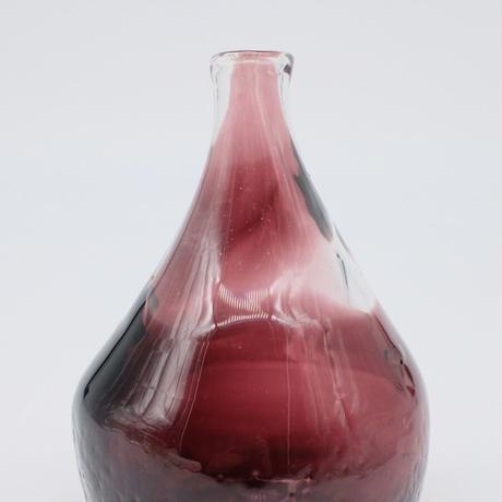 森永 豊 / 重ね巻き楕円花瓶 葡萄色 (実物写真1112)