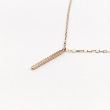 y.h.a accessories / K10 ネックレス・Hammered-bar/S