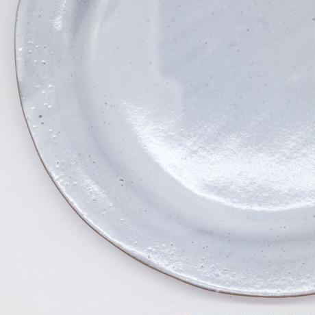 teto ceramics / リム皿・大・白透明釉 (実物写真248)