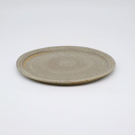 吉永 哲子 / 7寸リム皿・さびあさぎ(実物写真697)