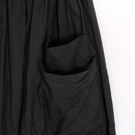 homspun / コンパクトウェザー ダブルポケット ギャザースカート (ブラック S)
