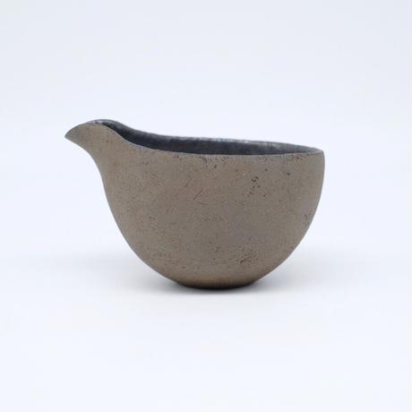 高田かえ / グレー(濃)土釉薬片口 (実物写真963)