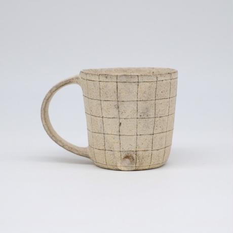鈴木 進 / 粉引線紋マグカップ(実物写真517)