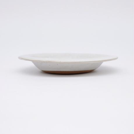 teto ceramic / リムプレート・小・白マット釉薬 (実物写真827)