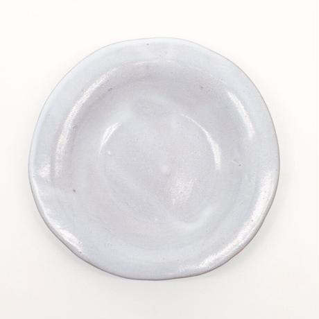 teto ceramic / リムプレート・小・白透明釉薬 (実物写真919)