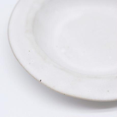 teto ceramic / リムプレート・小・白マット釉薬 (実物写真1081)