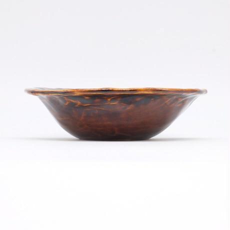 mouhitoaji / 茶色いスープ皿・飴色釉 (実物写真448)