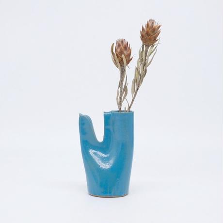 teto ceramic / 鳥の一輪挿し・モロッコブルー (実物写真915)