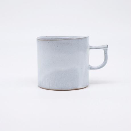 teto ceramic / マグ・小・白透明釉薬(実物写真922)